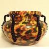 Aventurine spatter black handled tango vase - Welz