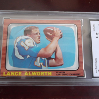Lance Alworth 1966 Topps Football Card - Football