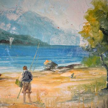 River Fly Fishing Scene - Visual Art