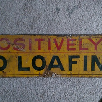 no loafing