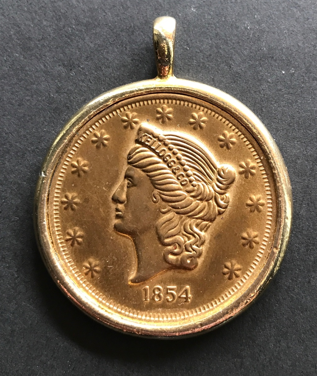 1854 kellogg co gold coin real collectors weekly for How can i tell if my jewelry is real gold