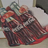 Couple Coca Cola Santa/Bottle cardboard signs