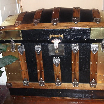 "My Dome Top Trunk with Brass ""Treasure"" - Furniture"