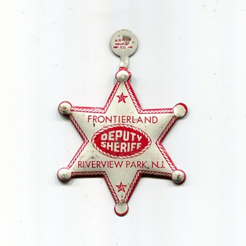 Souvenir Deputy Sheriff Badge from Riverview Park in New Jersey