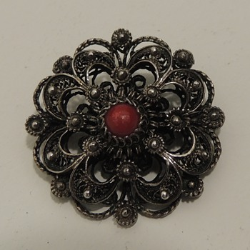 Dutch Costume Brooch and Silver Flower Pin