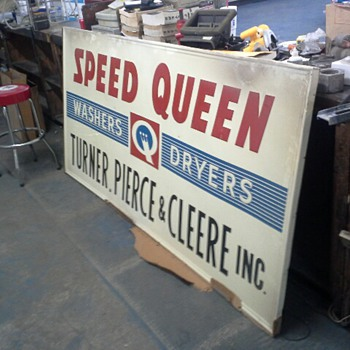 Speed Queen Store Sign possibly from the '50s or '60s - Advertising