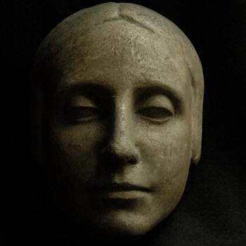"french art deco period  woman's head sculpture "" l'inconnue de la seine"""