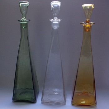 3 Govette Decanters - Art Glass