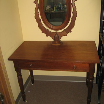 Old Vanity W/ Mirror - Furniture