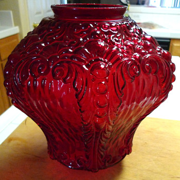 Red Glass Lamp Globe - Lamps