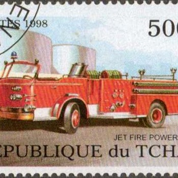"1998 - Chad - ""Fire Truck"" Postage Stamp - Stamps"