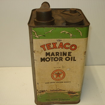 Texaco Marine Oil Can