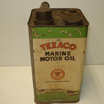 Texaco Marine Oil Can - Petroliana