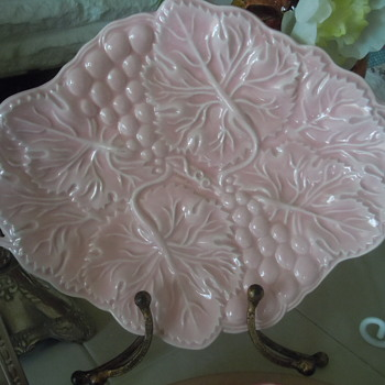 Pink Majoica Platter - Pottery