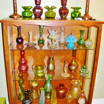 Art Nouveau Loetz, Kralik, Pallme Konig,Welz and Rindskopf Collection of Vases - Art Nouveau