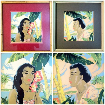 Hawaiiana Art Deco 1950's by Artist Locke