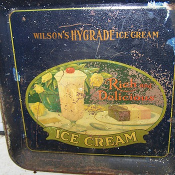 Wilson's Hygrade Ice Cream Tray