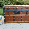 Leather Covered 1870's Toy Trunk