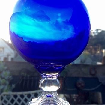 Rare Huntington Tumbler Company Ivy Ball Vase - Glassware