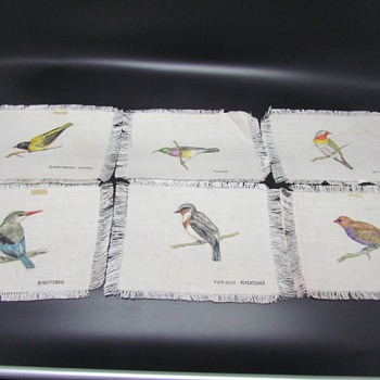 Hand Painted Birds on Linen