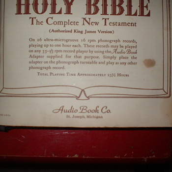 Talking Book Audio Bible