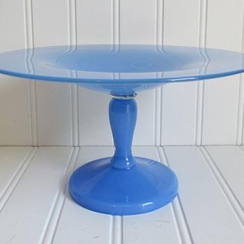 Unusual Loetz Blue ('Himmelblau') Tango Compote