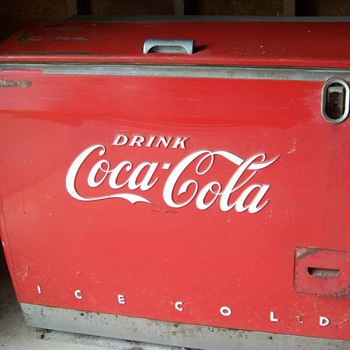1950's Coke Cooler restored.... before& after