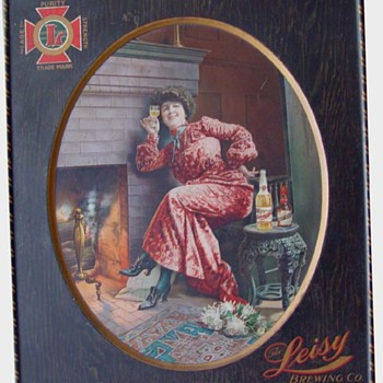 Self framed tin sign-Leisy Brg.