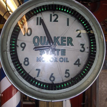 quaker state neon spinner - Clocks