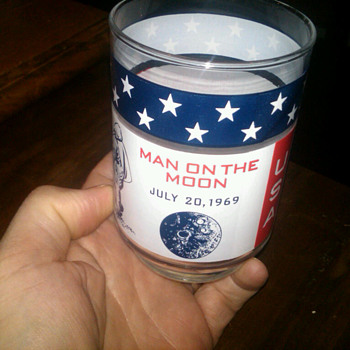 "Apollo 11 ""man on the moon"" glasses - Glassware"