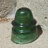 Star Green Glass Insulator CD 162