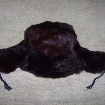 RUSSIAN MINK HAT WITH EAR FLAPS