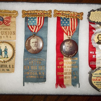 Civil War Re-Union Ribbons - Military and Wartime