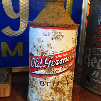 Old German Beer Cone Top Can - Breweriana