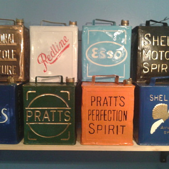 some of my vintage petrol cans - Petroliana