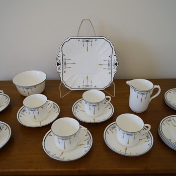 Shelley Art Deco Tea Set - Art Deco