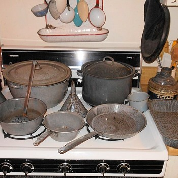 Vintage Gray (grey) Graniteware Collection