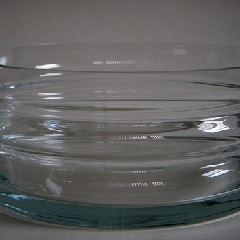 Vintage Mid Century Glass Bowl~Interesting and Beautiful Form - Art Glass