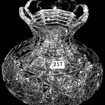 American Brilliant Cut Glass Flower Center 1905