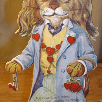 Early Valentine's Day cards. 1900's-1920's.