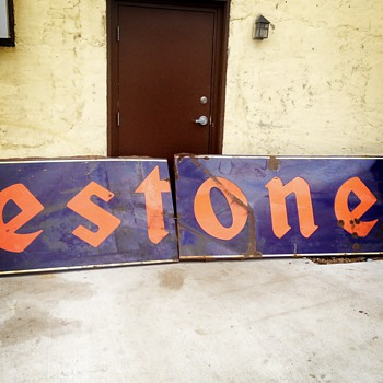 Has anyone ever seen this big of a porcelain Firestone sign??