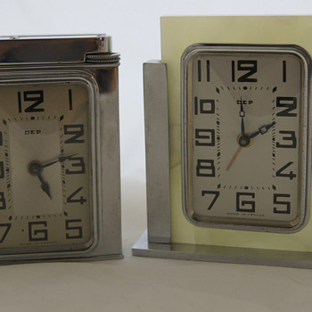 DEP table lighter clock & desk clock