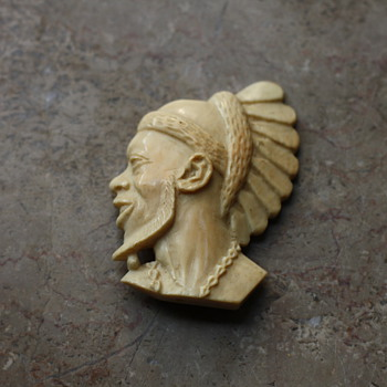 Ivory brooch