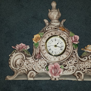 PORCELINE  MADE IN ITALY CLOCK - Clocks