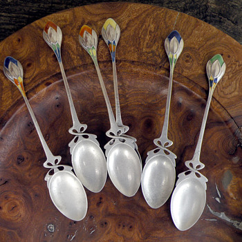 Liberty 'Crocus' teaspoons - Arts and Crafts