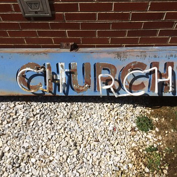 OLD CHURCH SIGN - Signs
