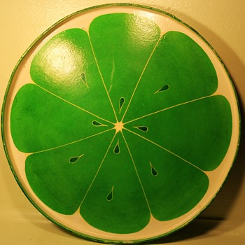 cool, mid-century drinks tray or wall-hanging? LIMEY