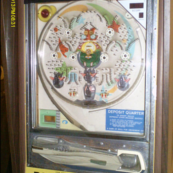 25 Cent Coin Operated Pachinko Machine (Mid 70's) - Coin Operated