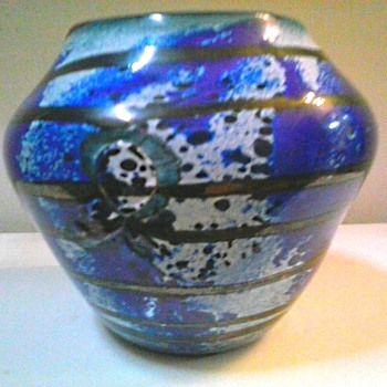 "Ed Francis  5"" Art Glass Vase /Circa 1993"