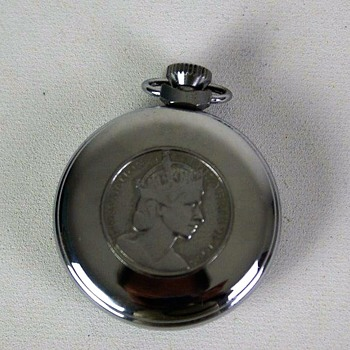 Queen Elizabeth II Coronation Pocket Watch Plain variant